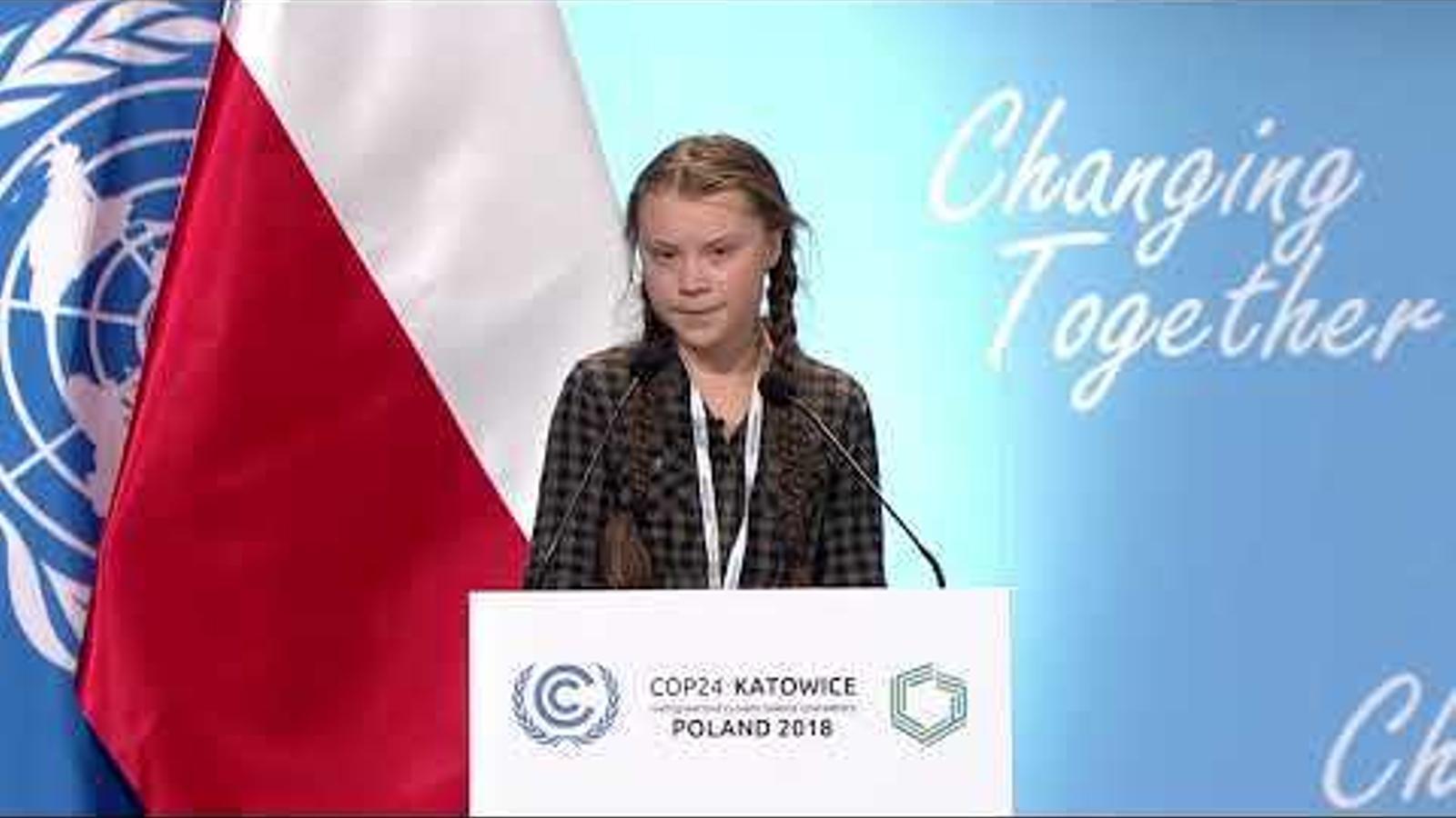 Greta thunberg parla a la cimera de l'ONU contra el canvi climàtic a Polònia, la COP24