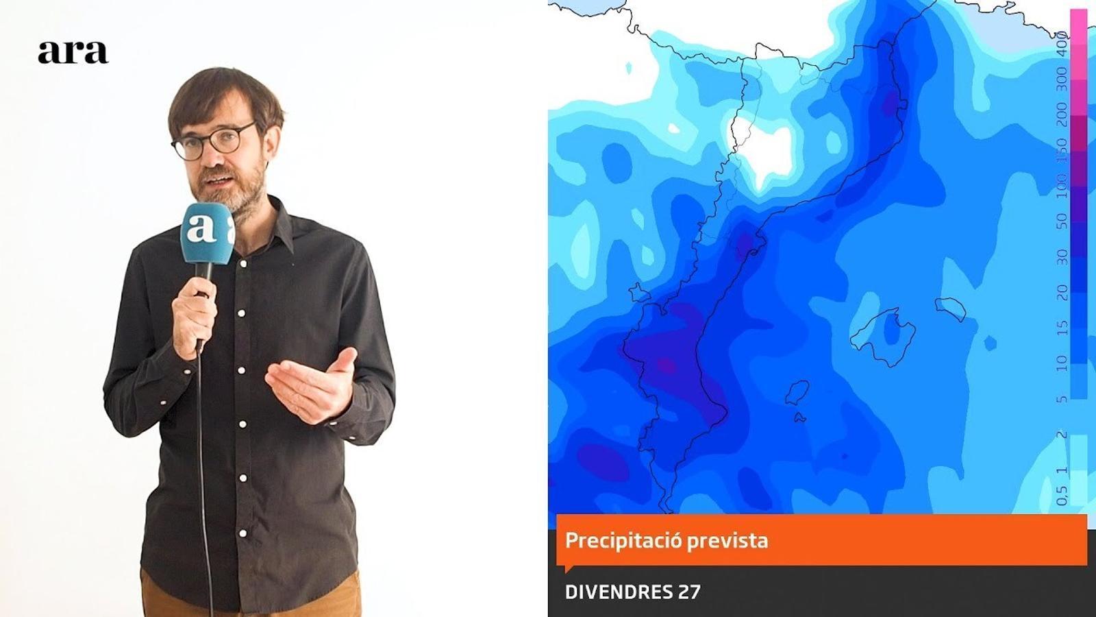 La méteo: pluges abundants i temporal de mar en l'inici del cap de setmana