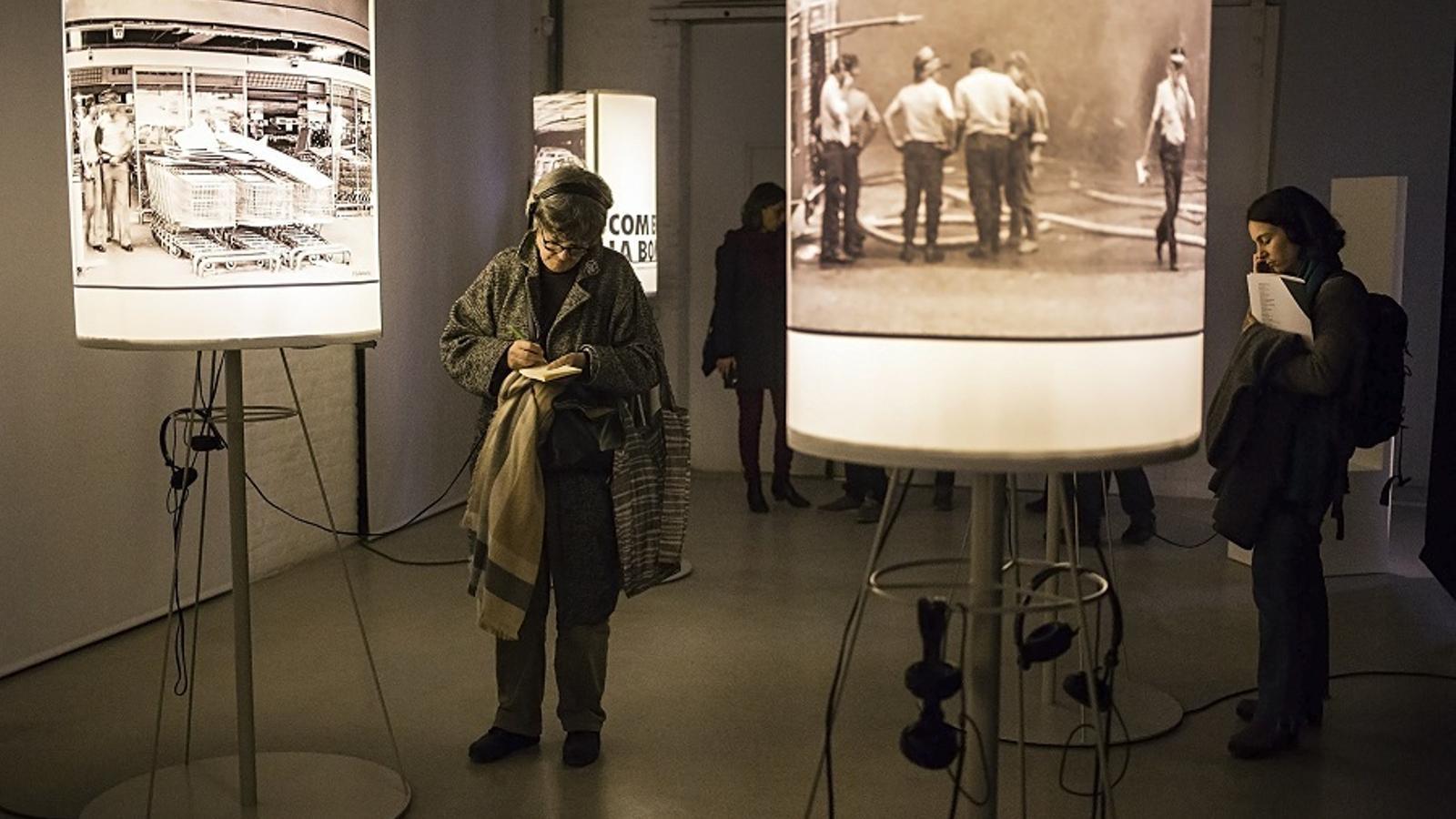Una sala de l'exposició 'La ferida d'Hipercor. Barcelona 1987'