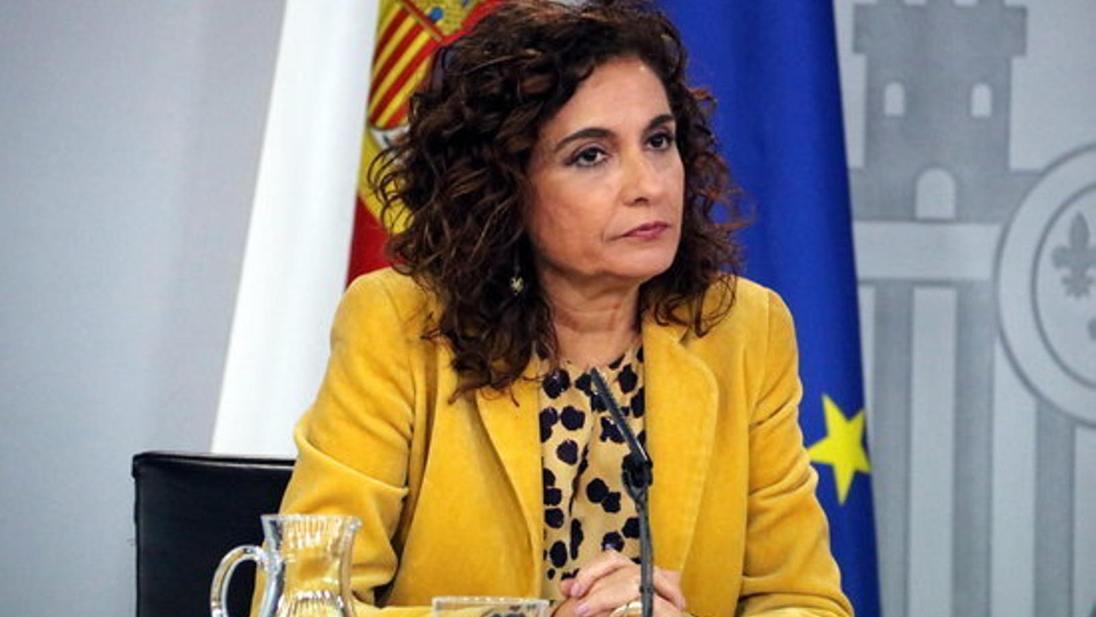 La ministra d'Hisenda, María Jesús Montero, en una imatge d'arxiu