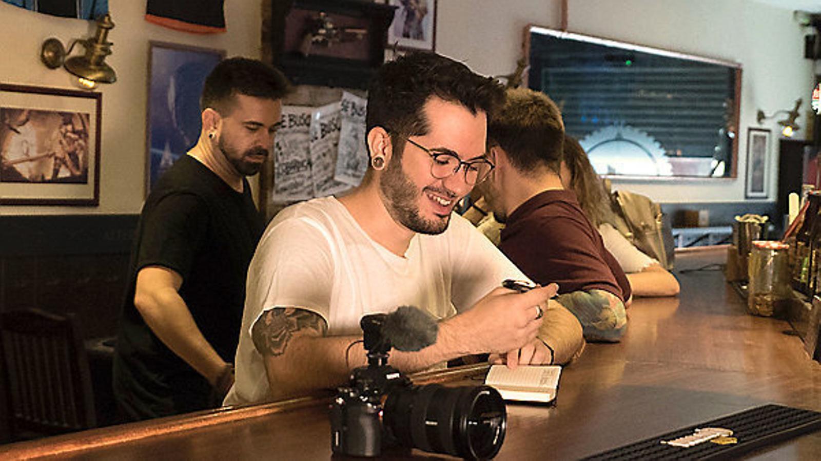 Ismael Prego (Wismichu) en un moment del rodatge de Bocadillo.