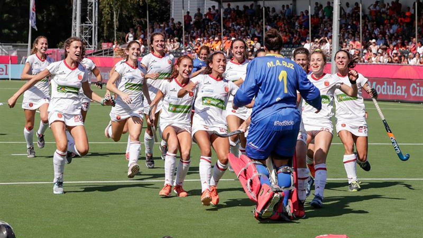 La selecció espanyola es penja el bronze als Europeus femenins d'hoquei herba