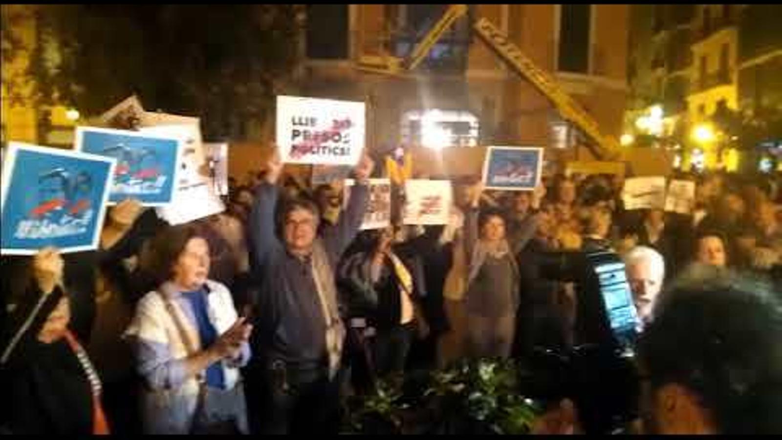 Concentració de suport als presos polítics catalans a Palma.