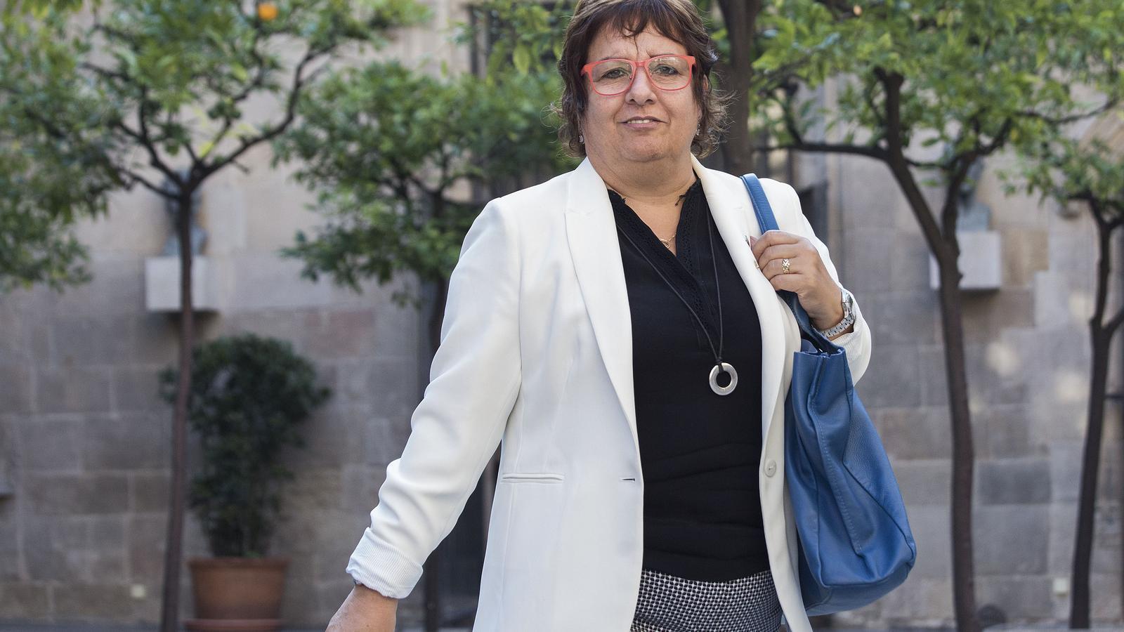 L'exconsellera de Treball, Dolors Bassa, en una imatge d'arxiu cinc dies abans del referèndum del 2017.