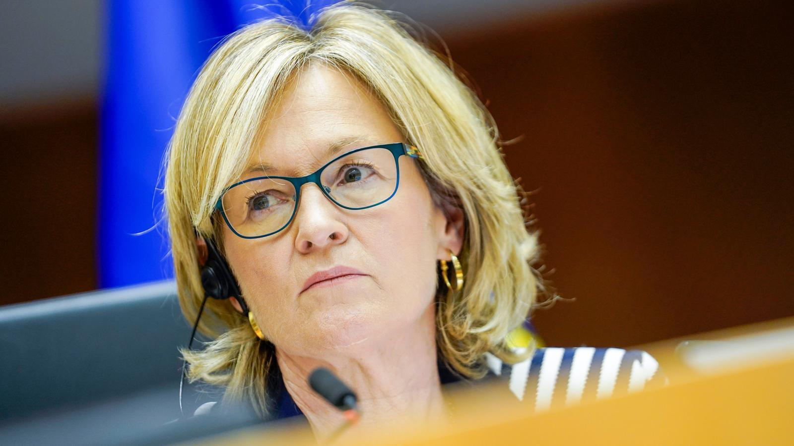 La vicepresidenta del Parlament Europeu i candidata a comissària de Serveis Financers, Mairead McGuiness.