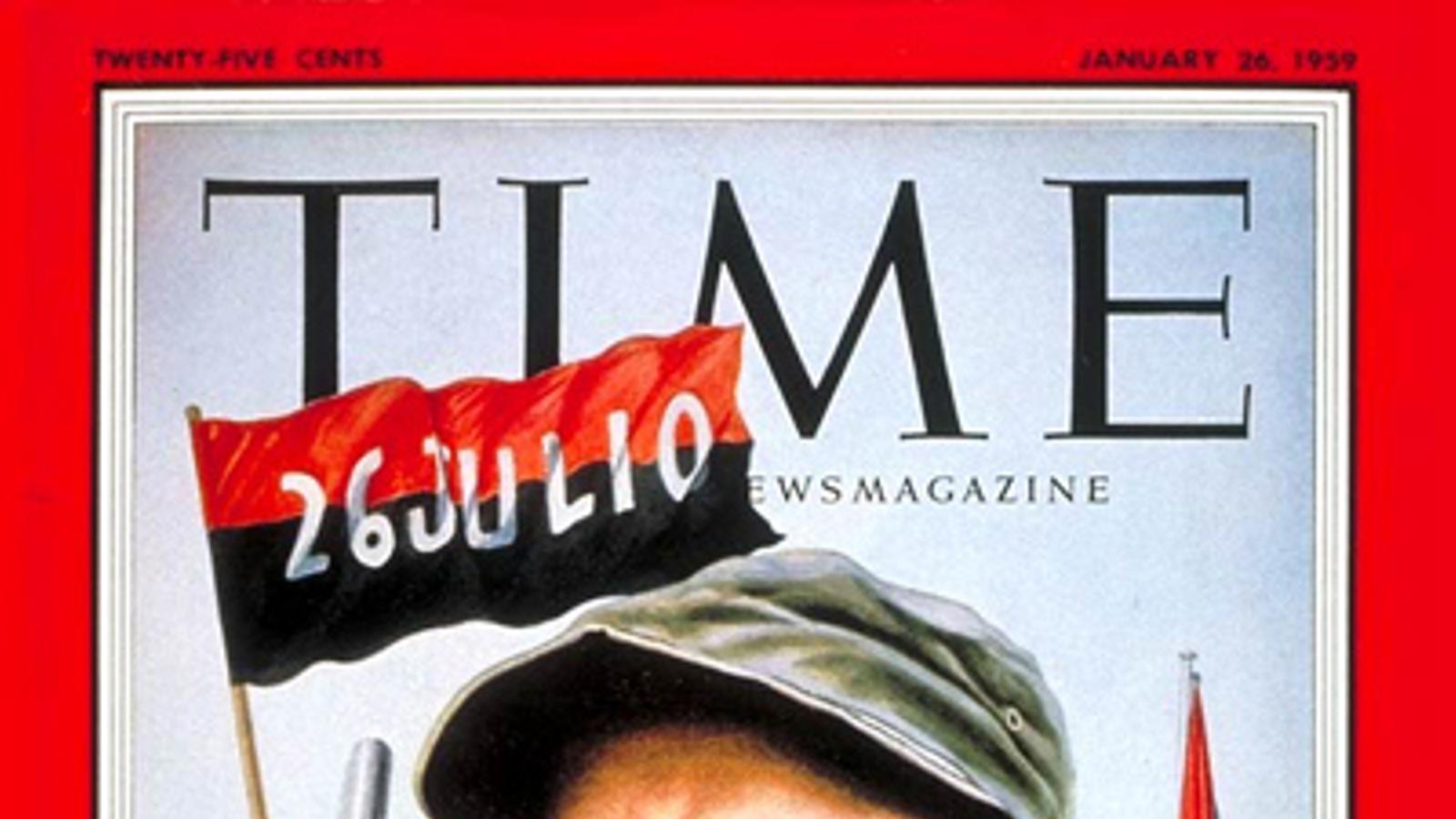 Portada de la revista 'Time' del 26 de gener del 1959 sobre el triomf de la revolució.