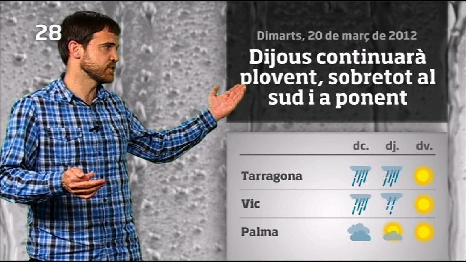 La méteo en 1 minut: pluges generals i abundants (21/03/2012)