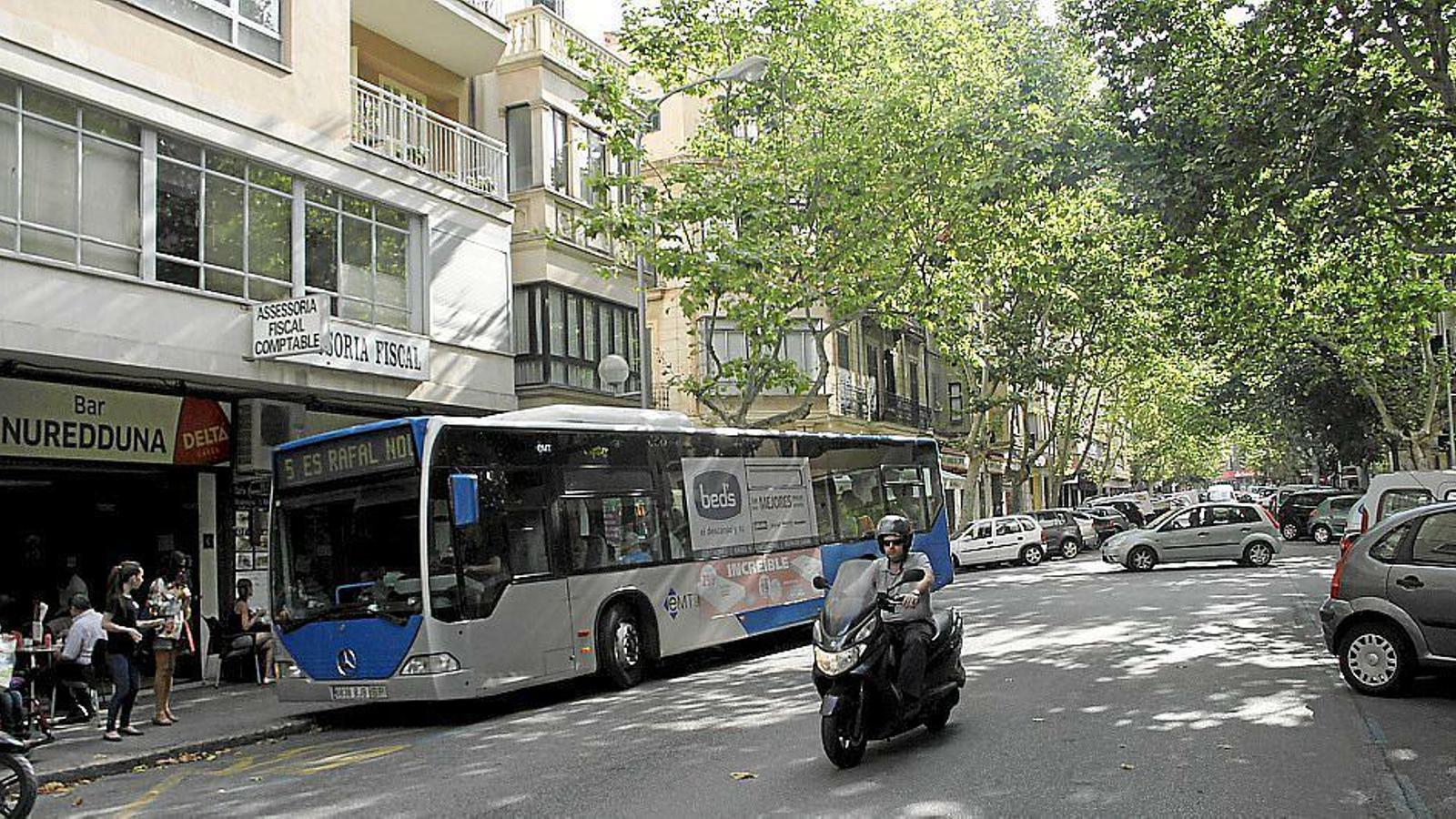 El carrer Nuredduna de Palma
