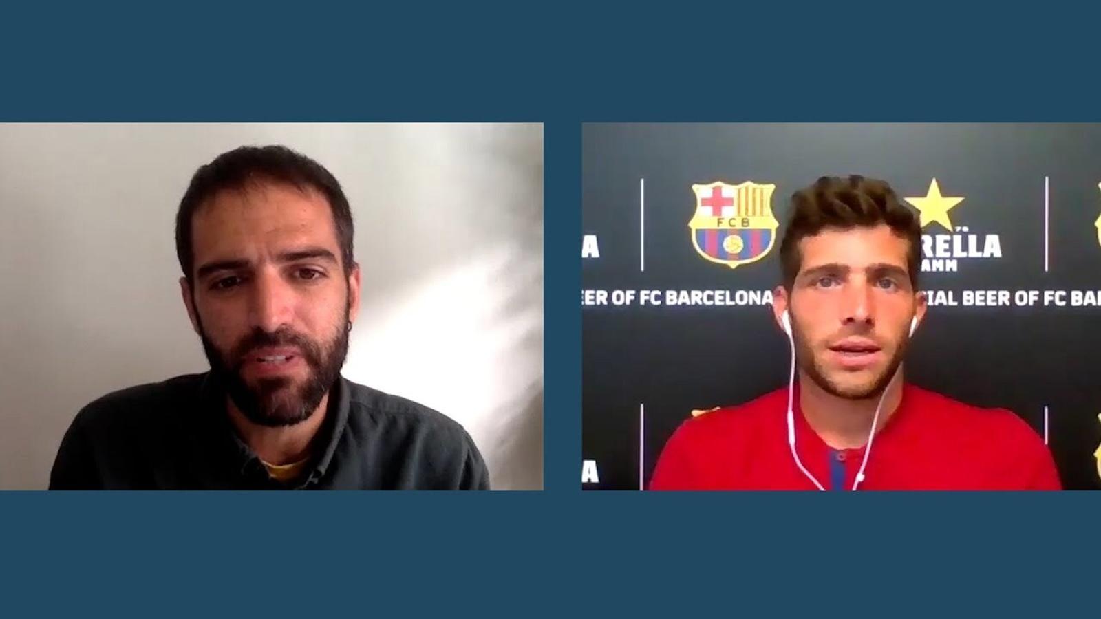 Xavi Hernández entrevista a Sergi Roberto