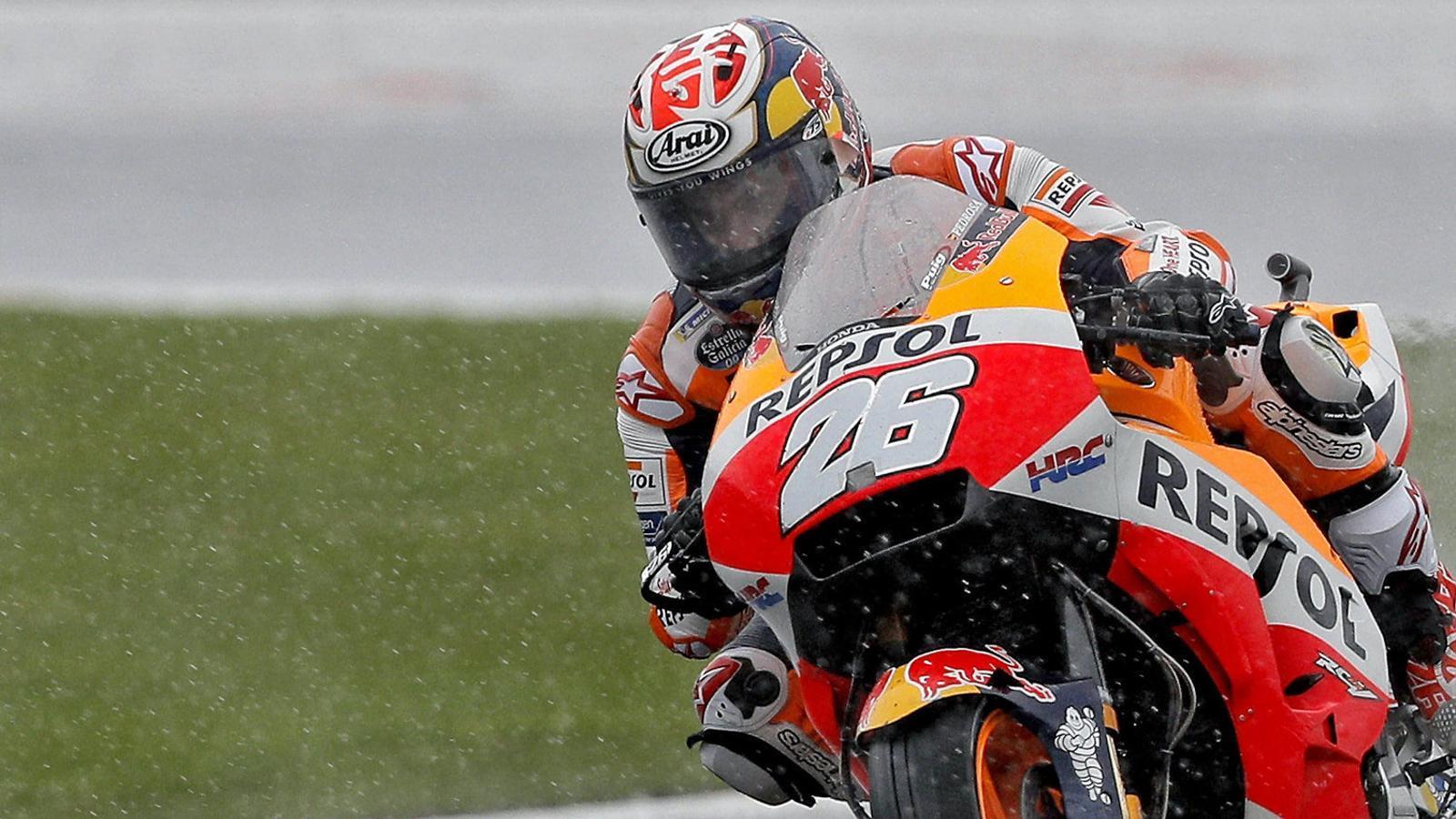 Dani Pedrosa durant l'últim Gran Premi de la seva carrera, diumenge a Xest.