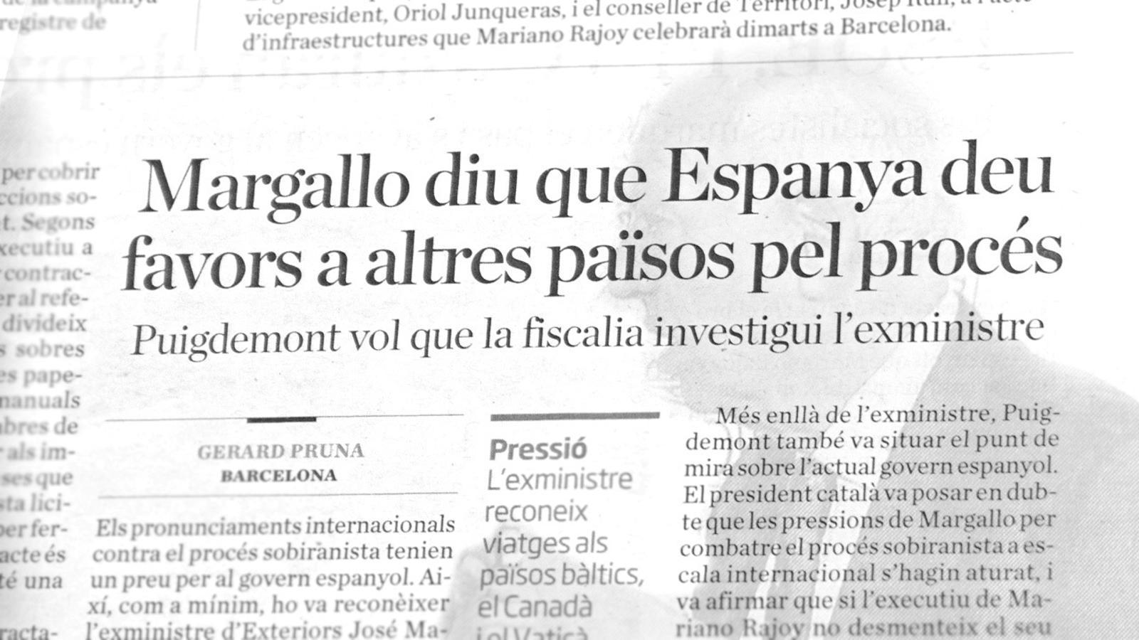 L'anàlisi d'Antoni Bassas: 'Els paperots de Margallo i la multa per parlar en català'