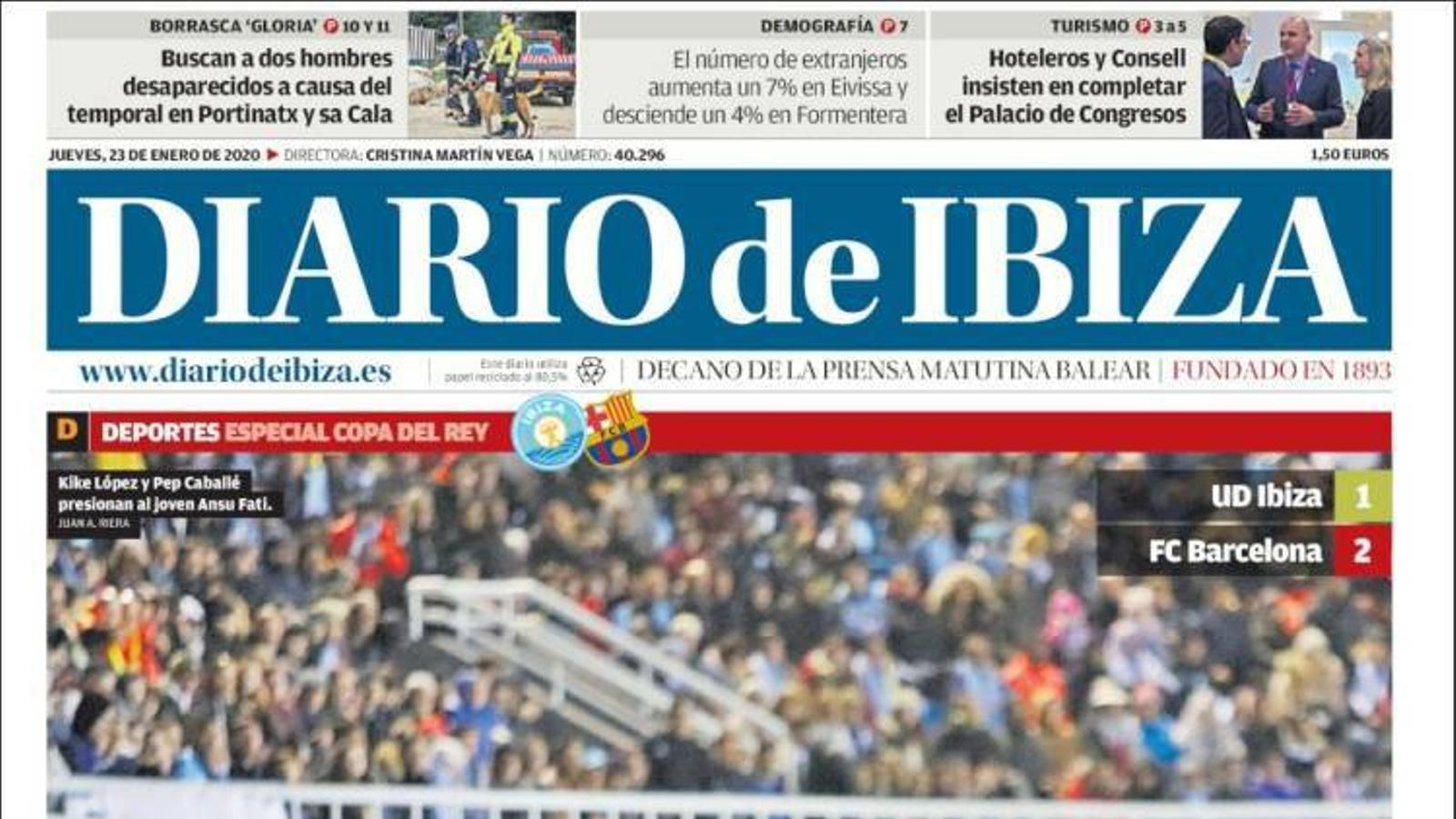 """""""Balears serà aquest any el destí líder per al turisme nacional"""", la portada d''Última Hora'"""