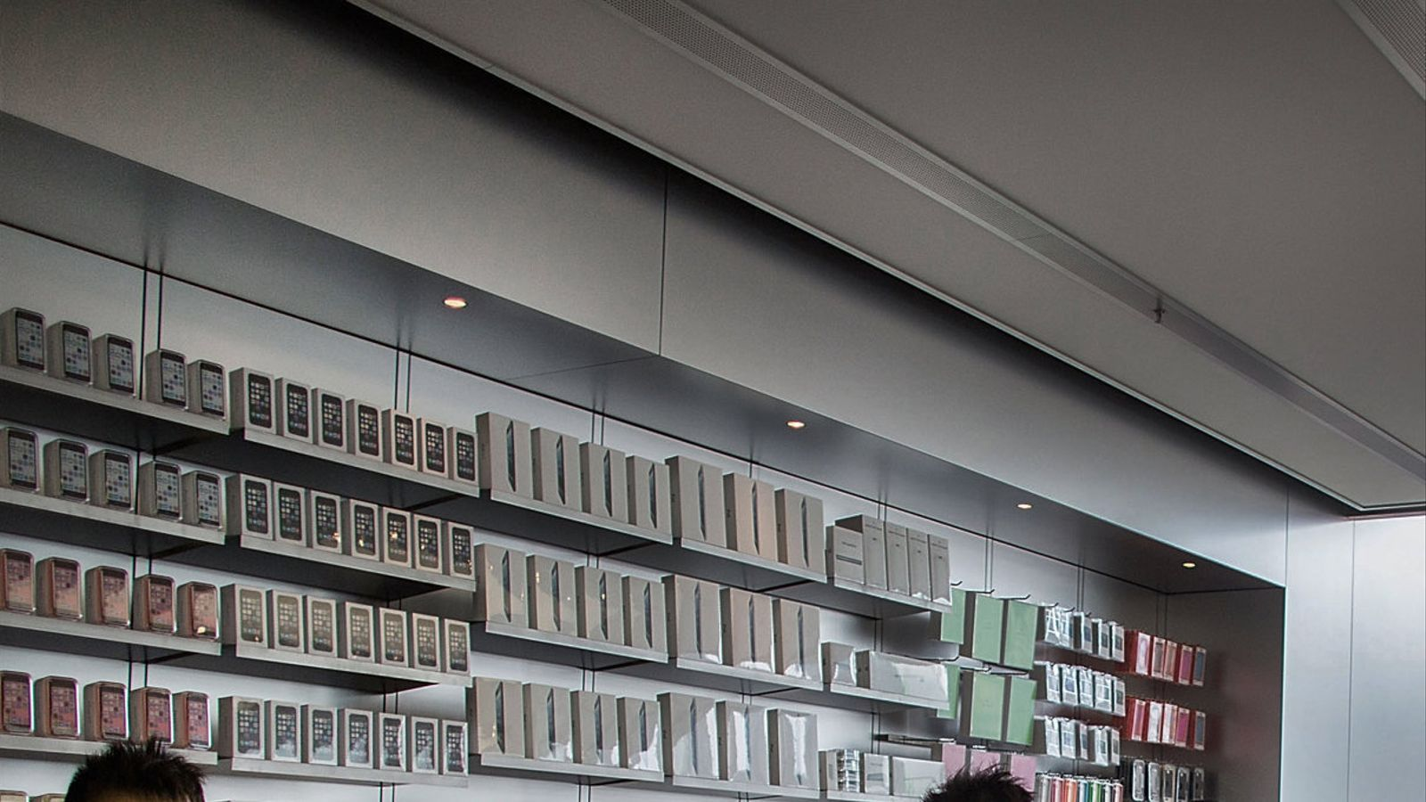 Una botiga d'Apple a Hong Kong en una imatge d'arxiu.