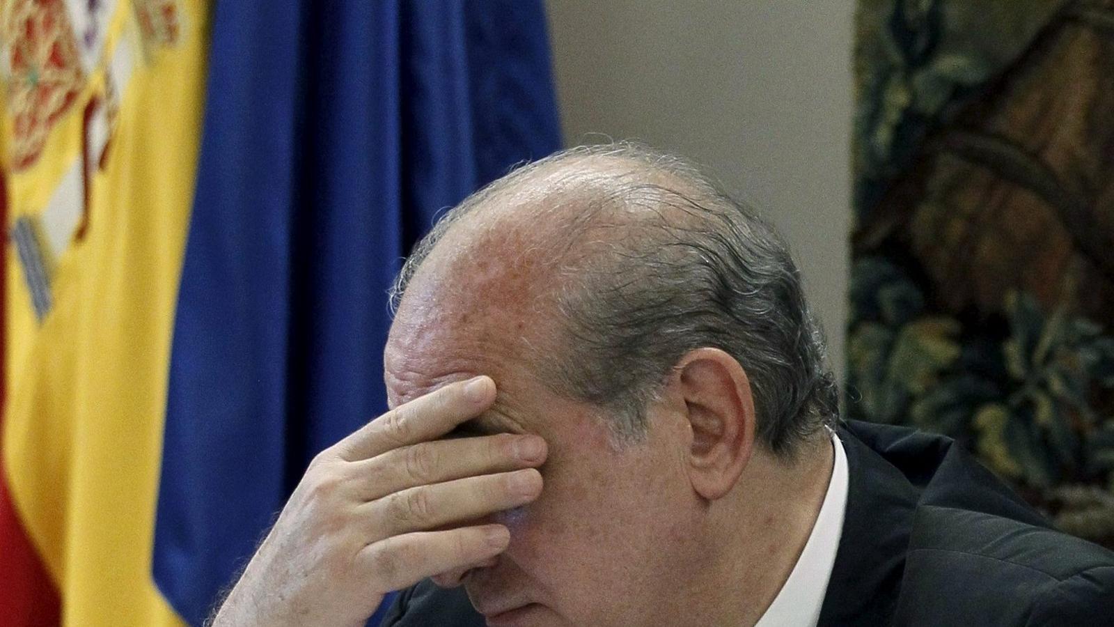 El ministre de l'Interior, Jorge Fernández Díaz, va fer ahir una conferència a la seu del Centre d'Estudis Polítics i Institucionals.