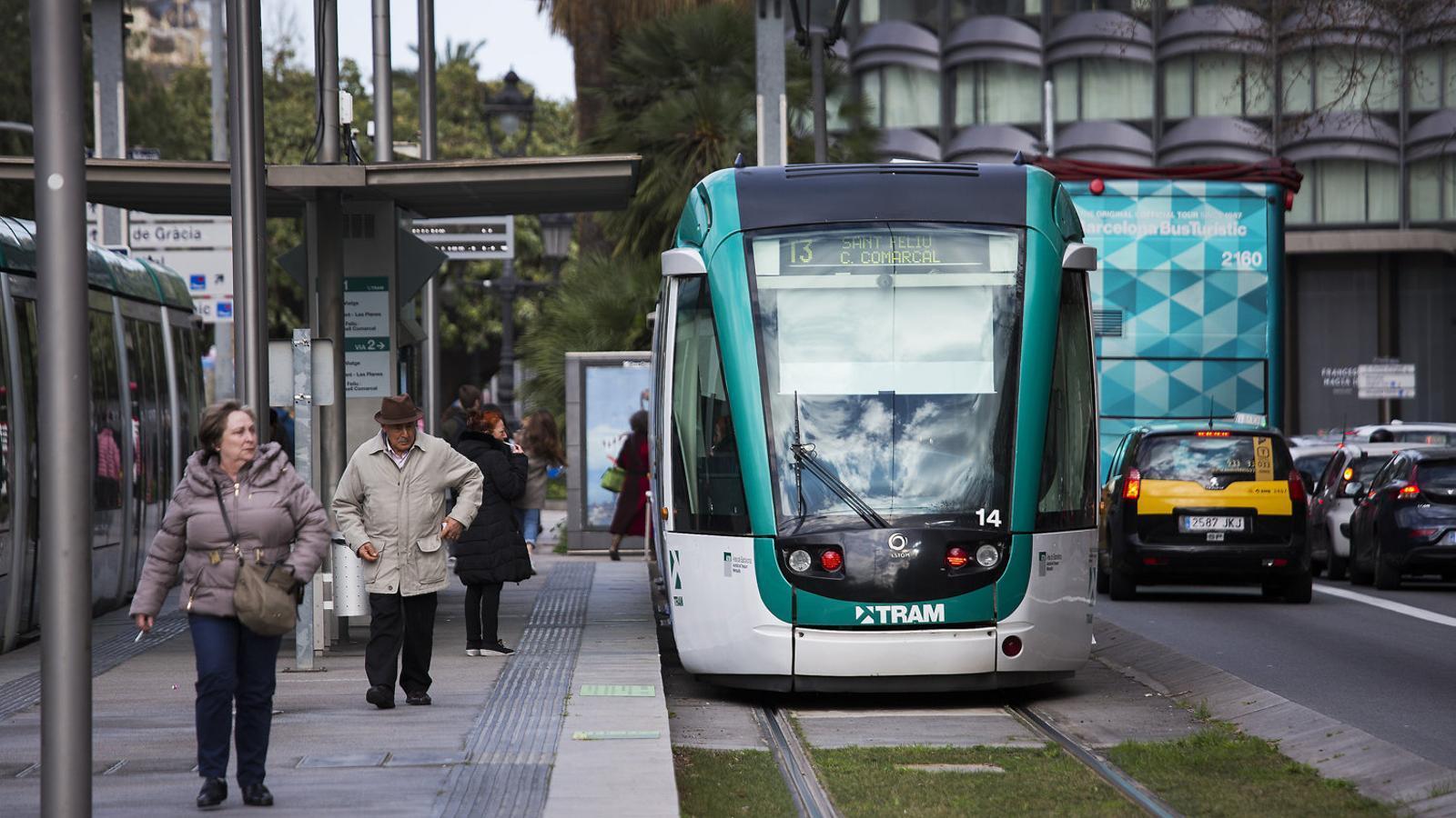 El tramvia per l'avinguda Diagonal, en una imatge d'arxiu.