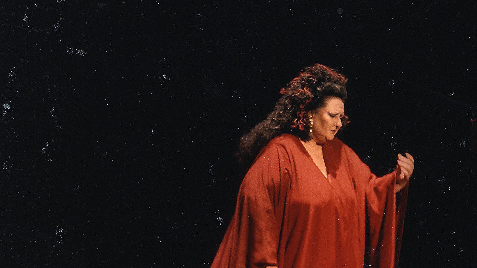 Montserrat Caballé en el paper de Salomé al Gran Teatre del Liceu en una funció el desembre del 1988.