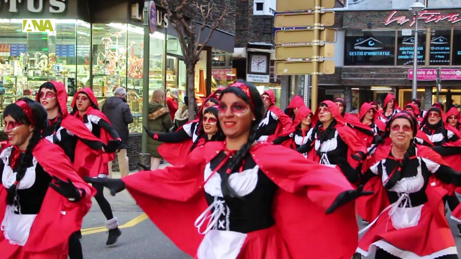 Imatges de la rua de carnaval conjunta entre Andorra la Vella i Escaldes-Engordany