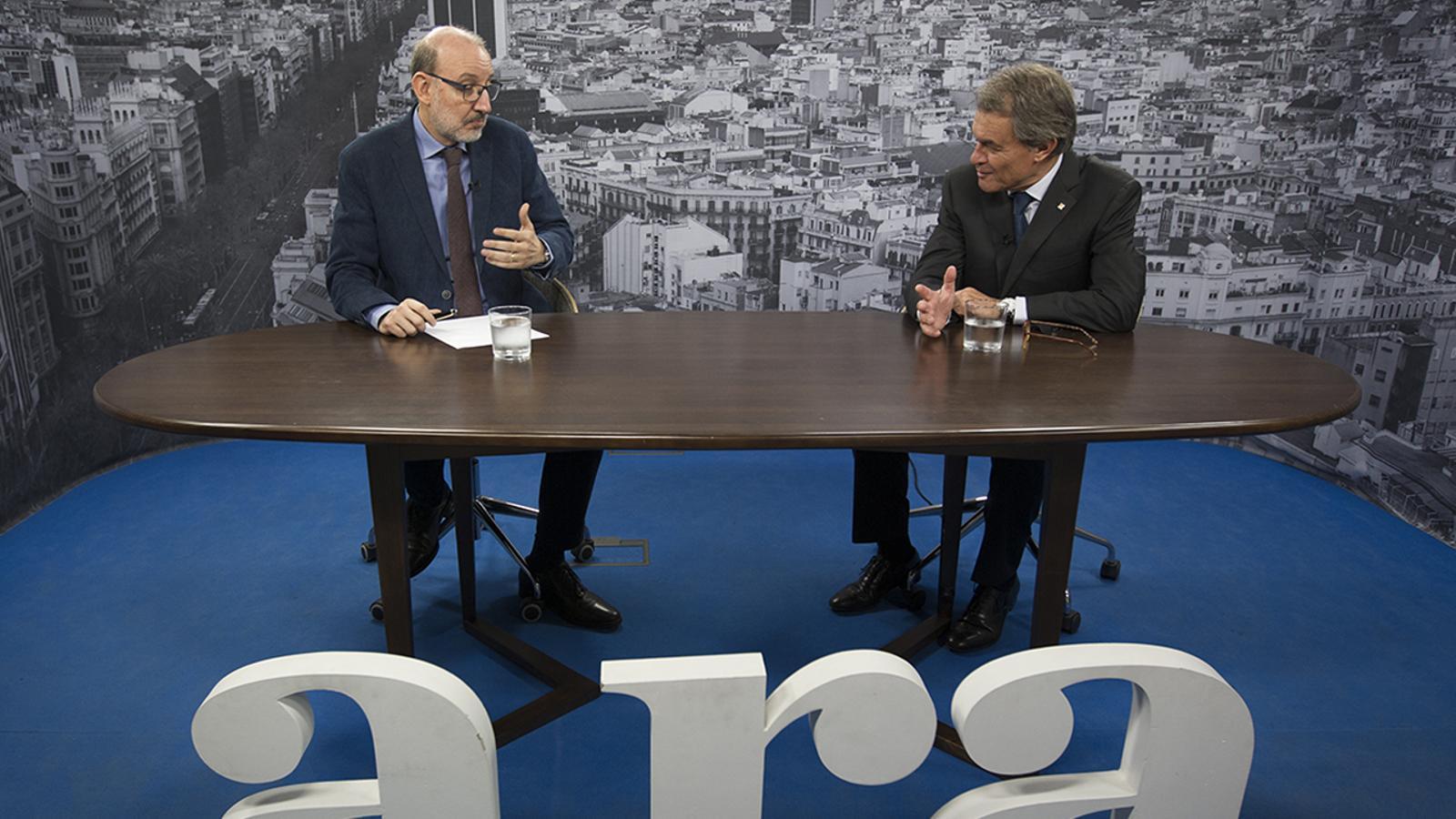 Entrevista d'Antoni Bassas a Artur Mas