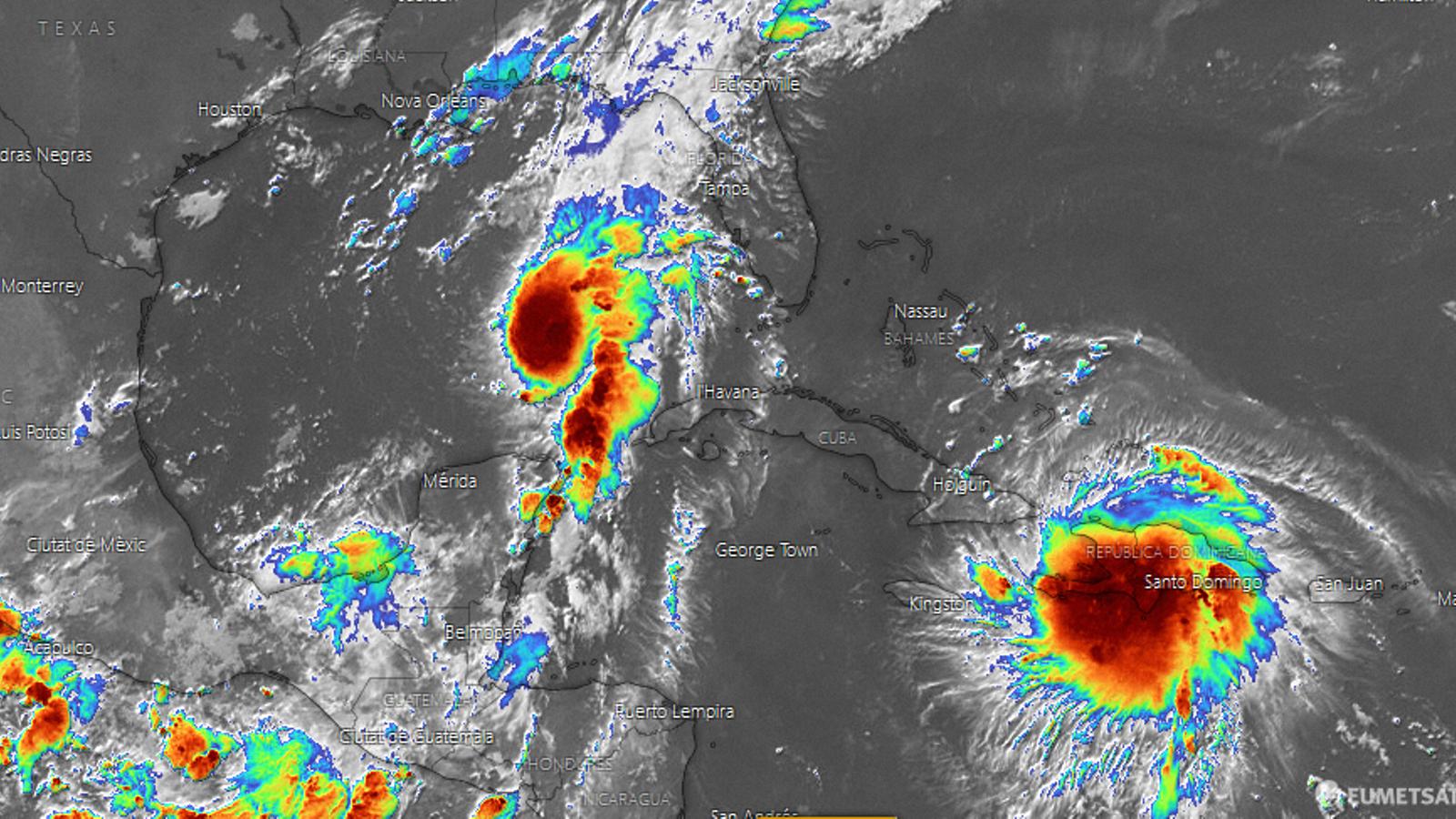 'Laura' i 'Marco', els dos ciclons tropicals actius que s'endinsen pel golf de Mèxic