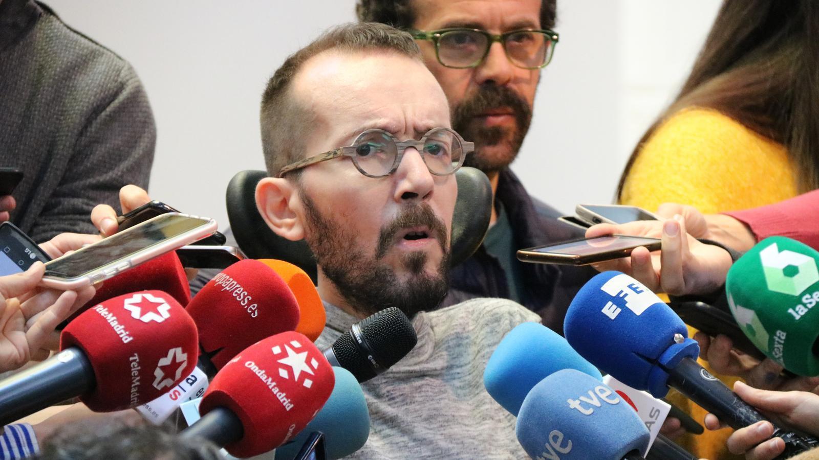 El secretari d'Organització de Podem, Pablo Echenique, en una imatge d'arxiu.