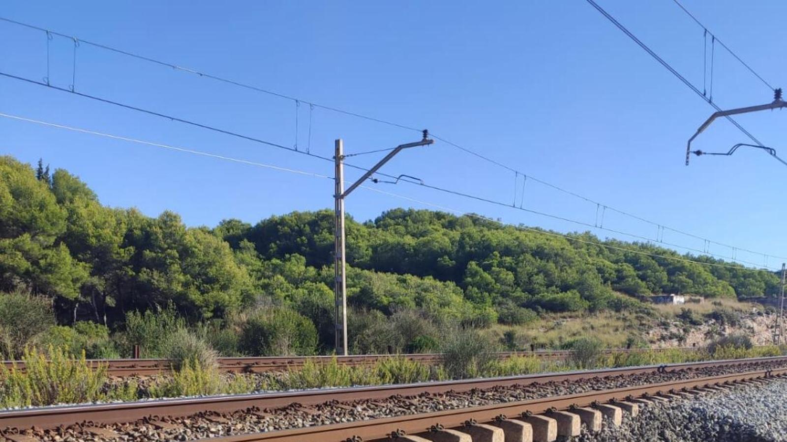 L'esvoranc entre Sitges i Vilanova provoca retards a Rodalies i complicarà la mobilitat fins dimarts