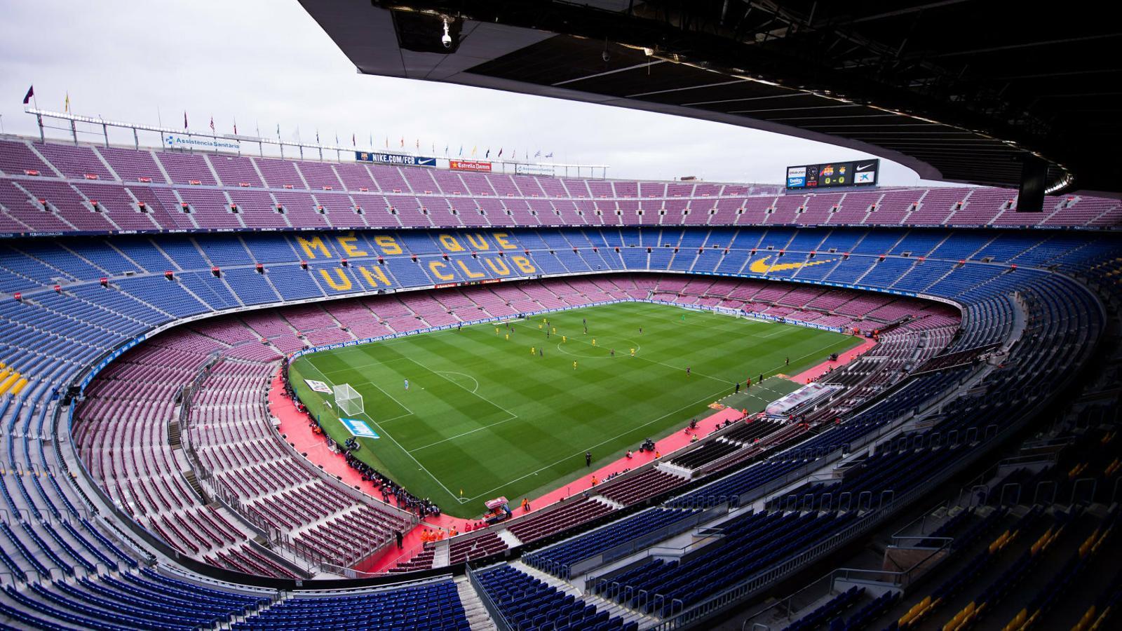 El Camp Nou buit l'1 d'octubre del 2017 durant el Barça - Las Palmas.