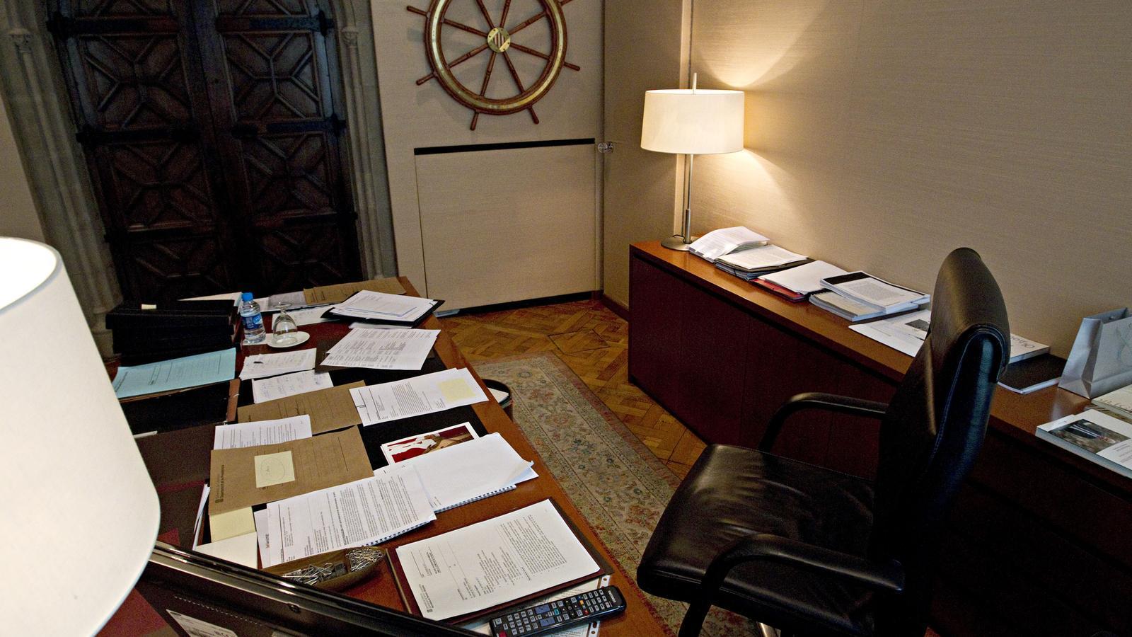 Despatx del President de la Generalitat. en una imatge de l'any 2011