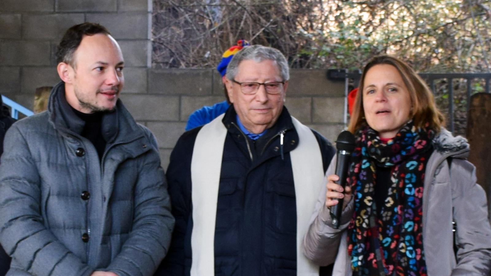 El cap de Govern, Xavier Espot, durant de celebració de l'escudella de Sant Antoni d'Escaldes-Engordany. / ANA