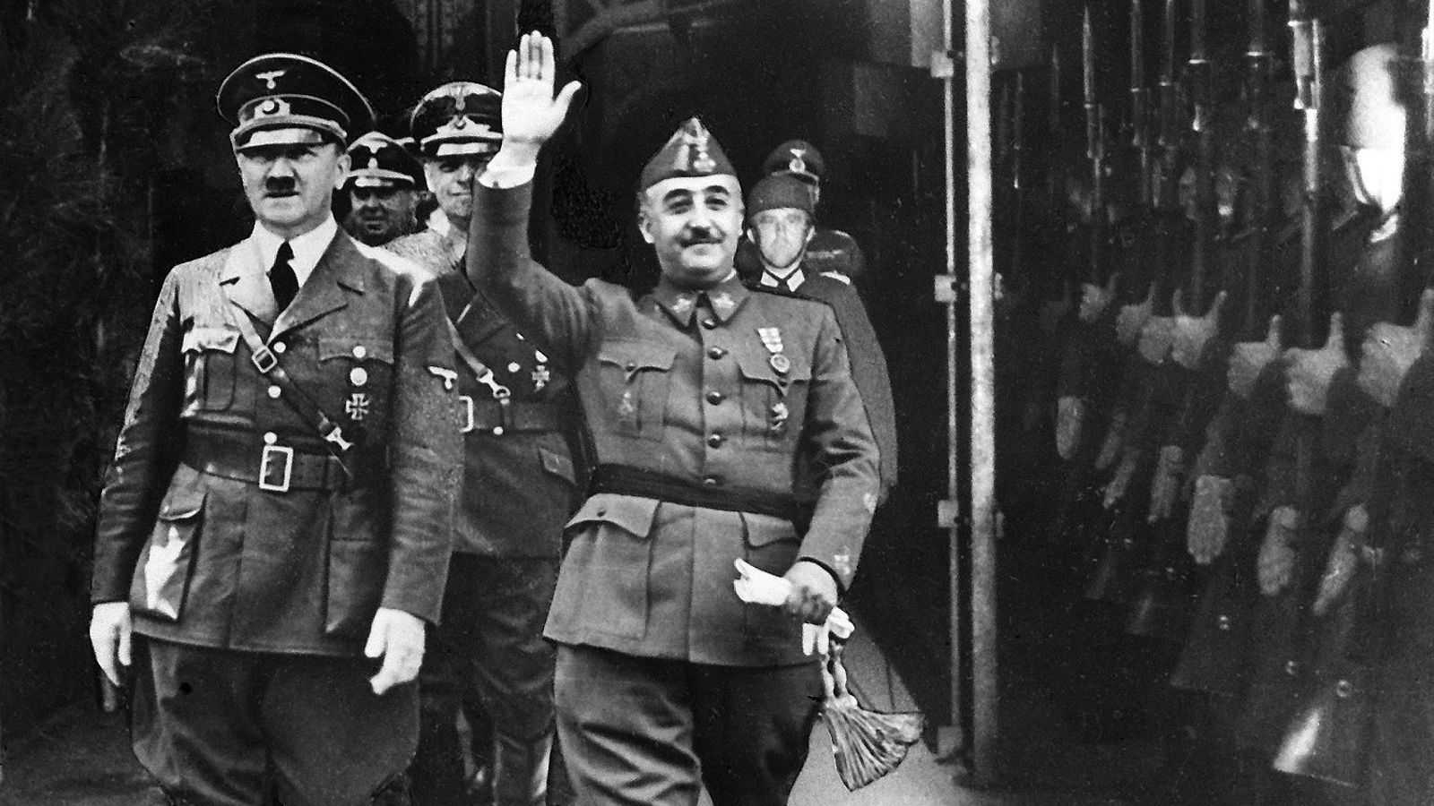 Francisco Franco al costat d'Adolf Hitler