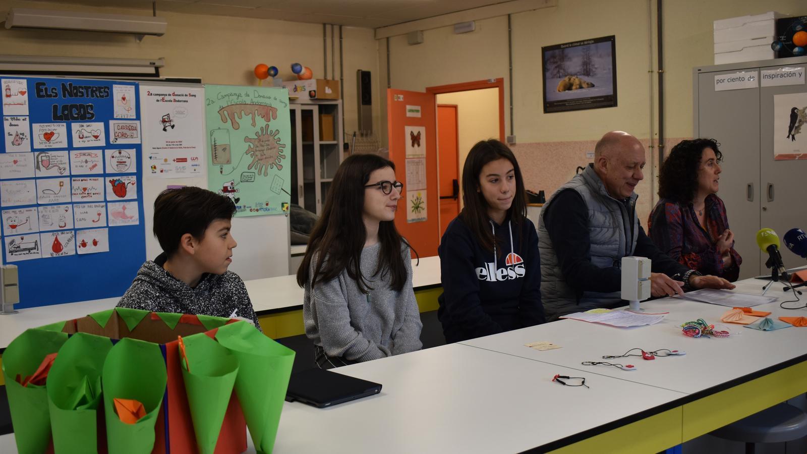 Presentació de la segona campanya de recollida de sang impulsada pels alumens de segona ensenyança del sistema educatiu andorrà. / A.S. (ANA)