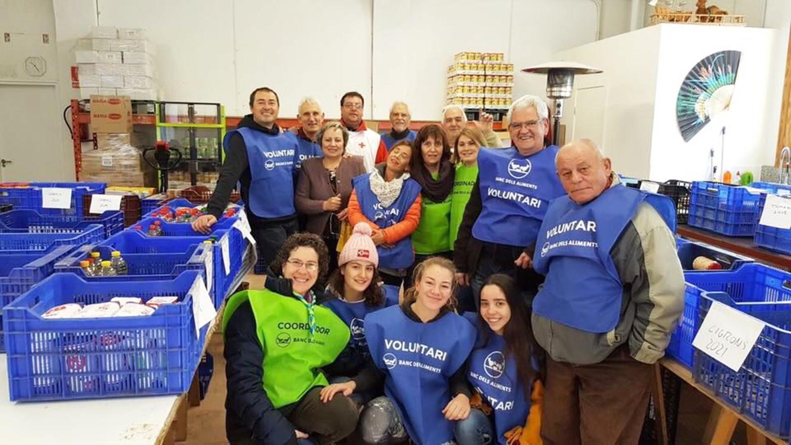 Grup de voluntaris del Gran Recapte 2017. / AJUNTAMENT DE LA SEU D'URGELL