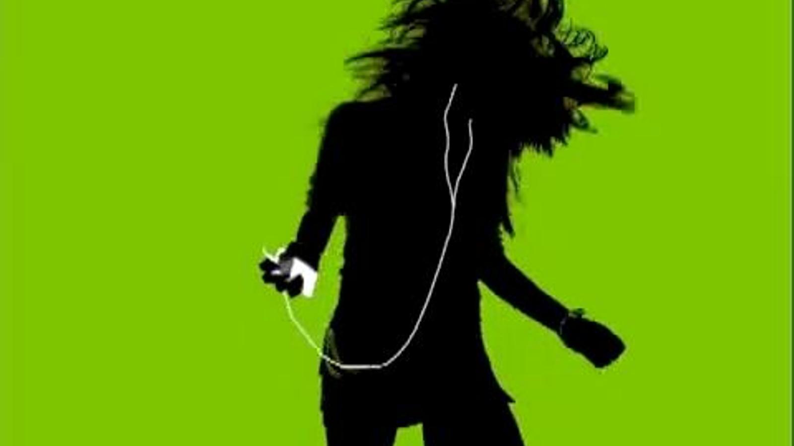 Anunci de l'iPod 3G, amb 'Are you gonna be my girl?' de la banda australiana Jet com a banda sonora