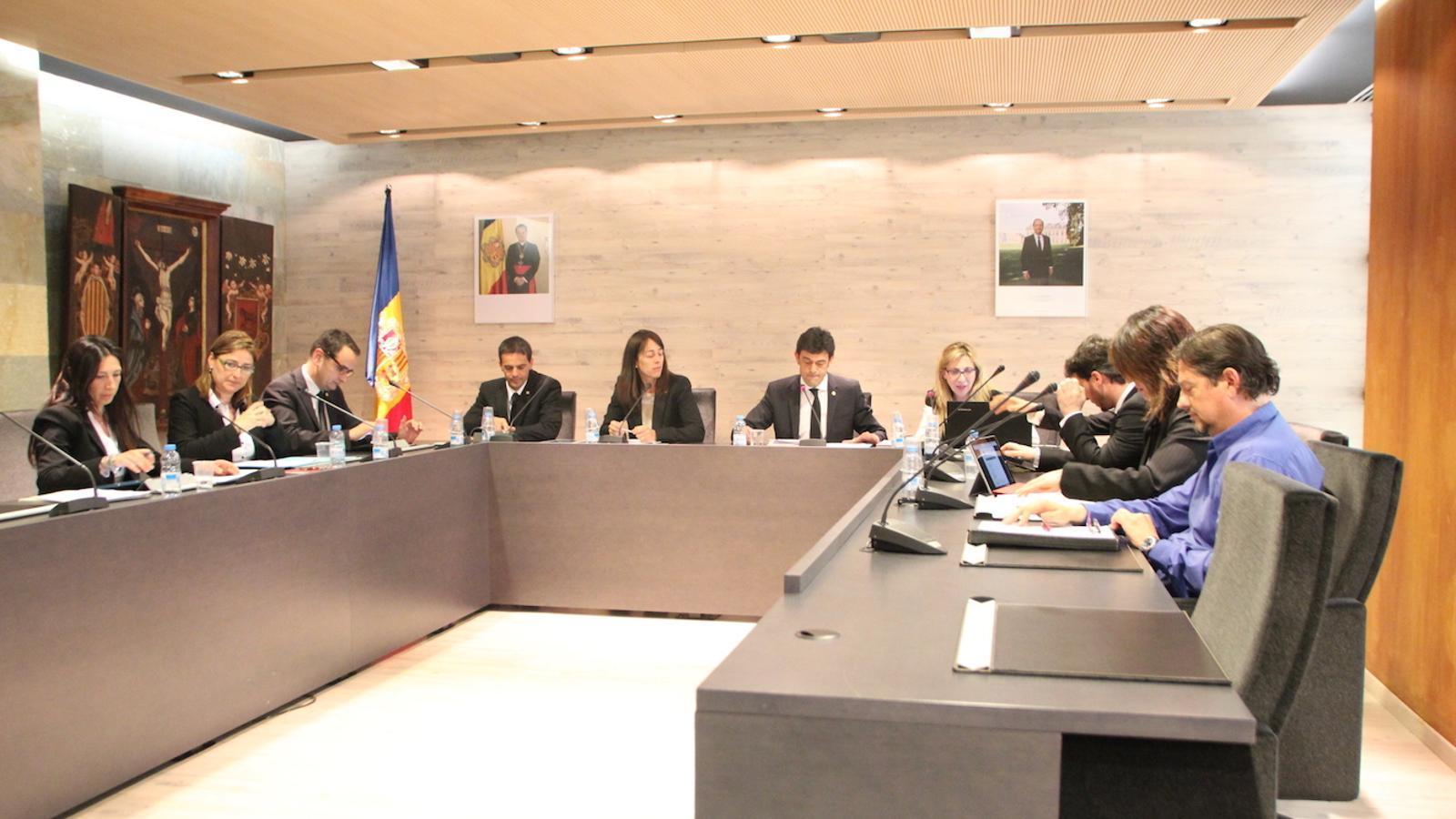 El Consell de Comú celebrat aquest dijous a Ordino / C.G.