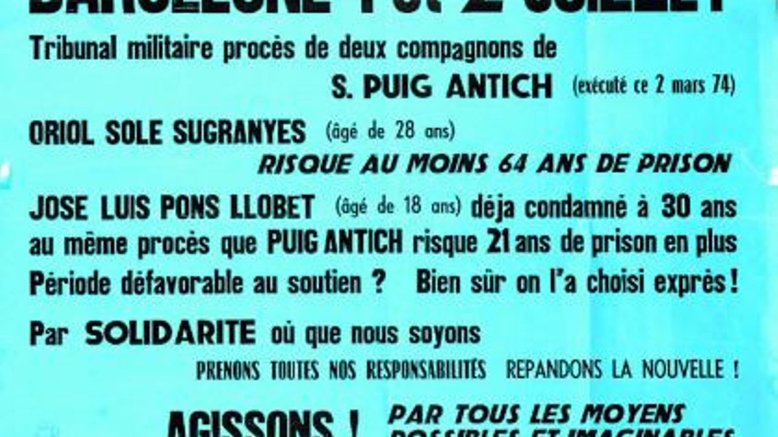 Puig Antich: 40 anys reivindicant justícia