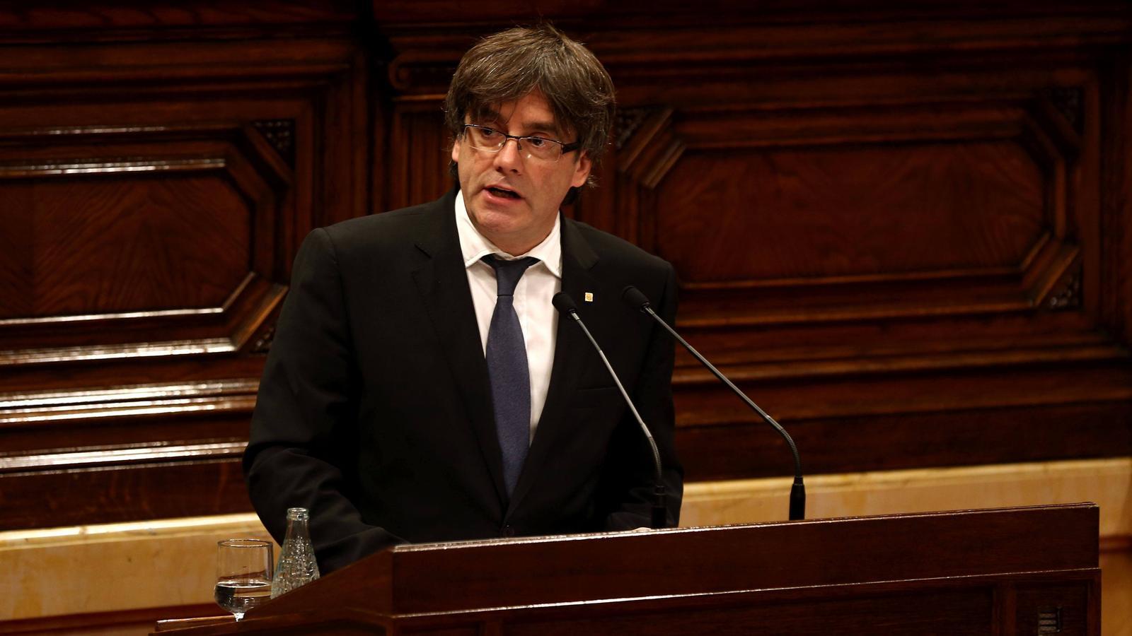 """Puigdemont sobre la immersió lingüística: """"Aquí no hem vingut a fer propaganda, hem vingut a parlar de la política del país"""""""