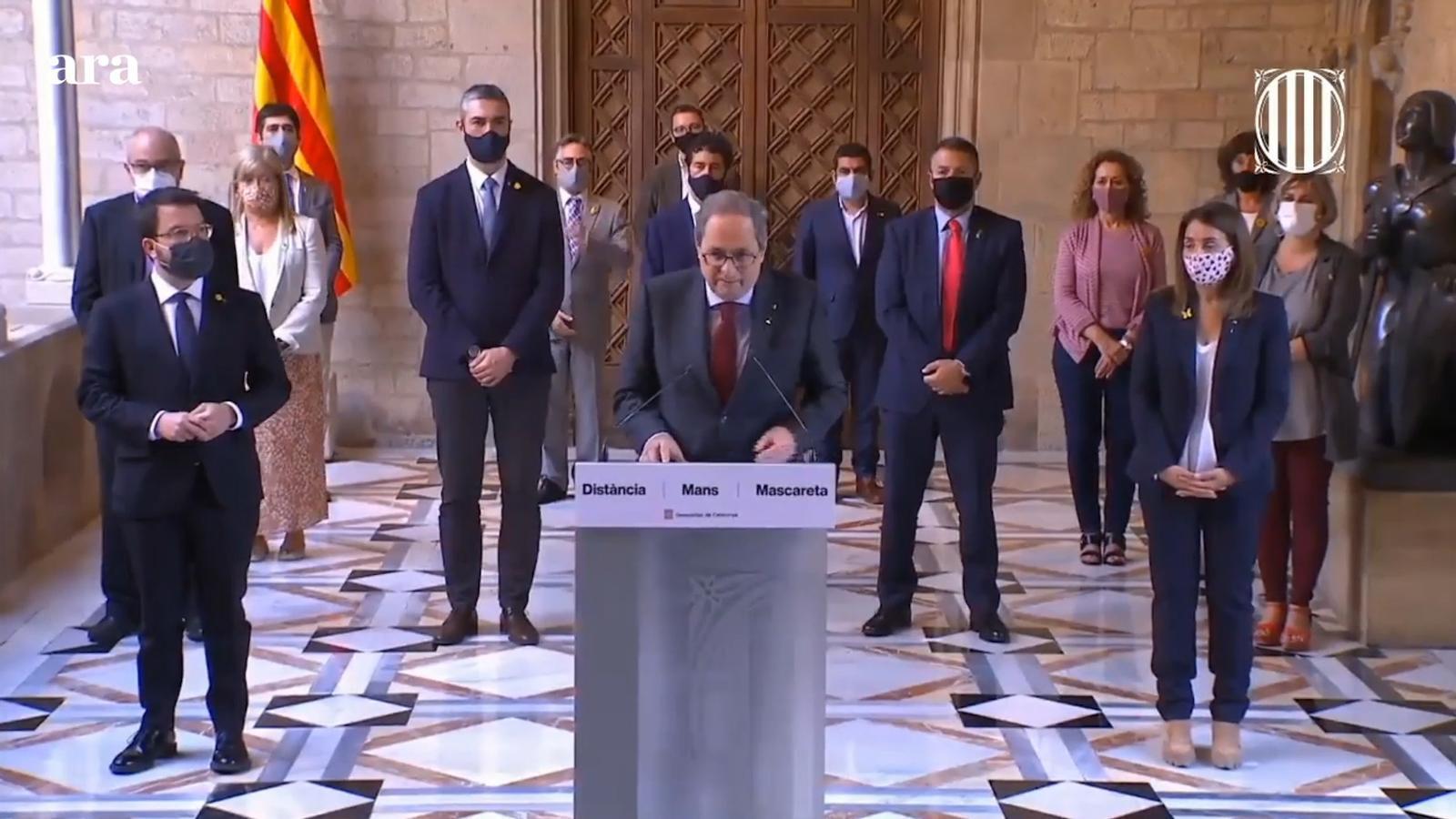 """Torra demana convertir les properes eleccions catalanes en un """"nou plebiscit"""" per confirmar el referèndum de l'1-O"""