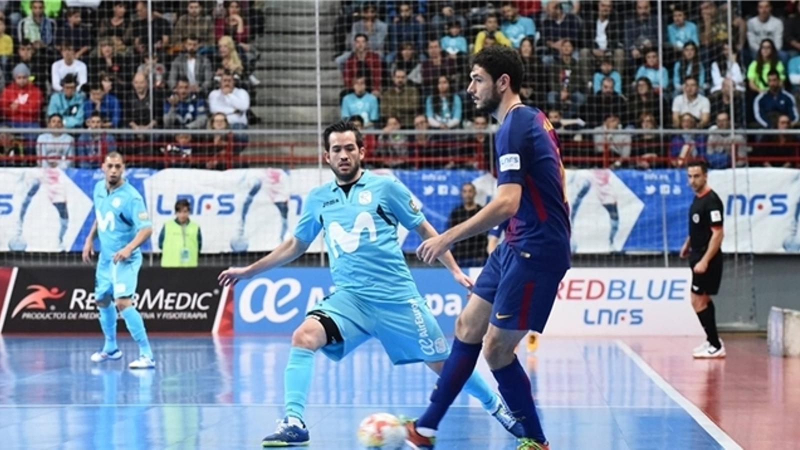 El Barça Lassa va perdre contra Movistar Inter per 4-1