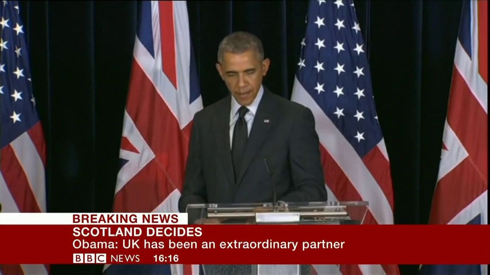 Obama, sobre el referèndum escocès: Volem un soci fort, robust, unit i eficaç