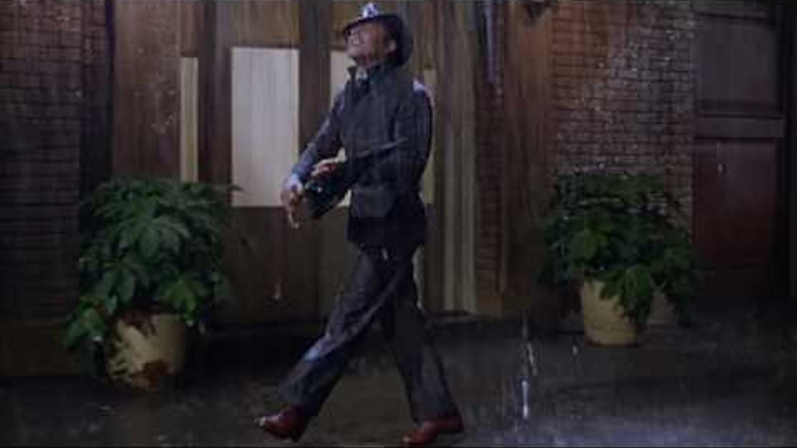 Gene Kelly a la pel·lícula 'Ballant sota la pluja', codirigida per Stanley Donen