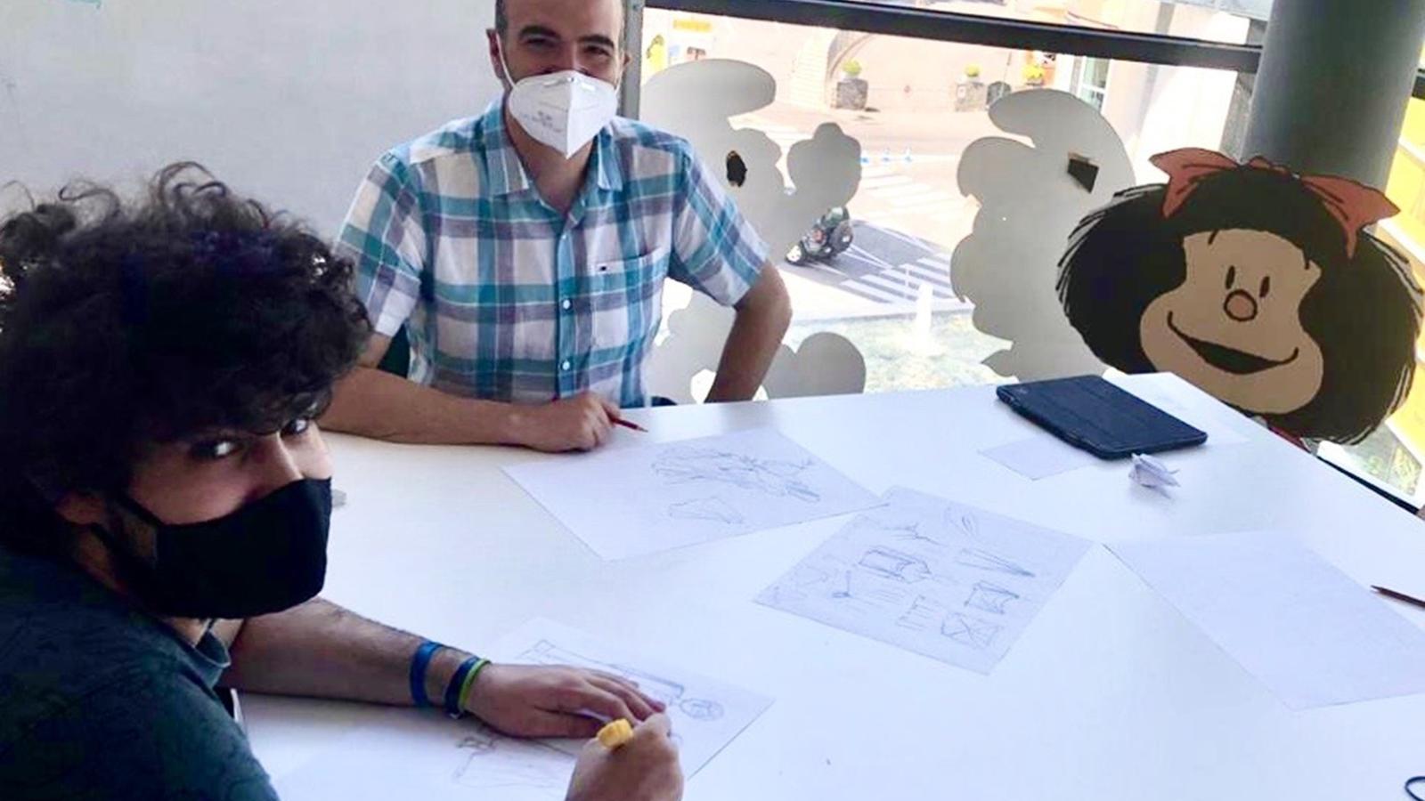 Instant d'una classe impartida per Jordi Planellas. / AUTEA