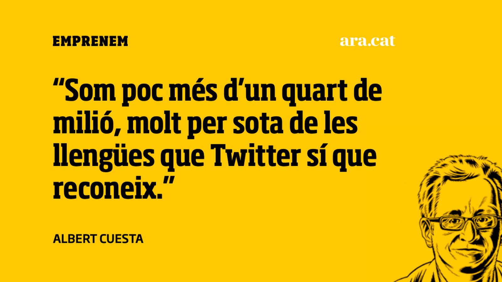 La poca eficiència del català a Twitter