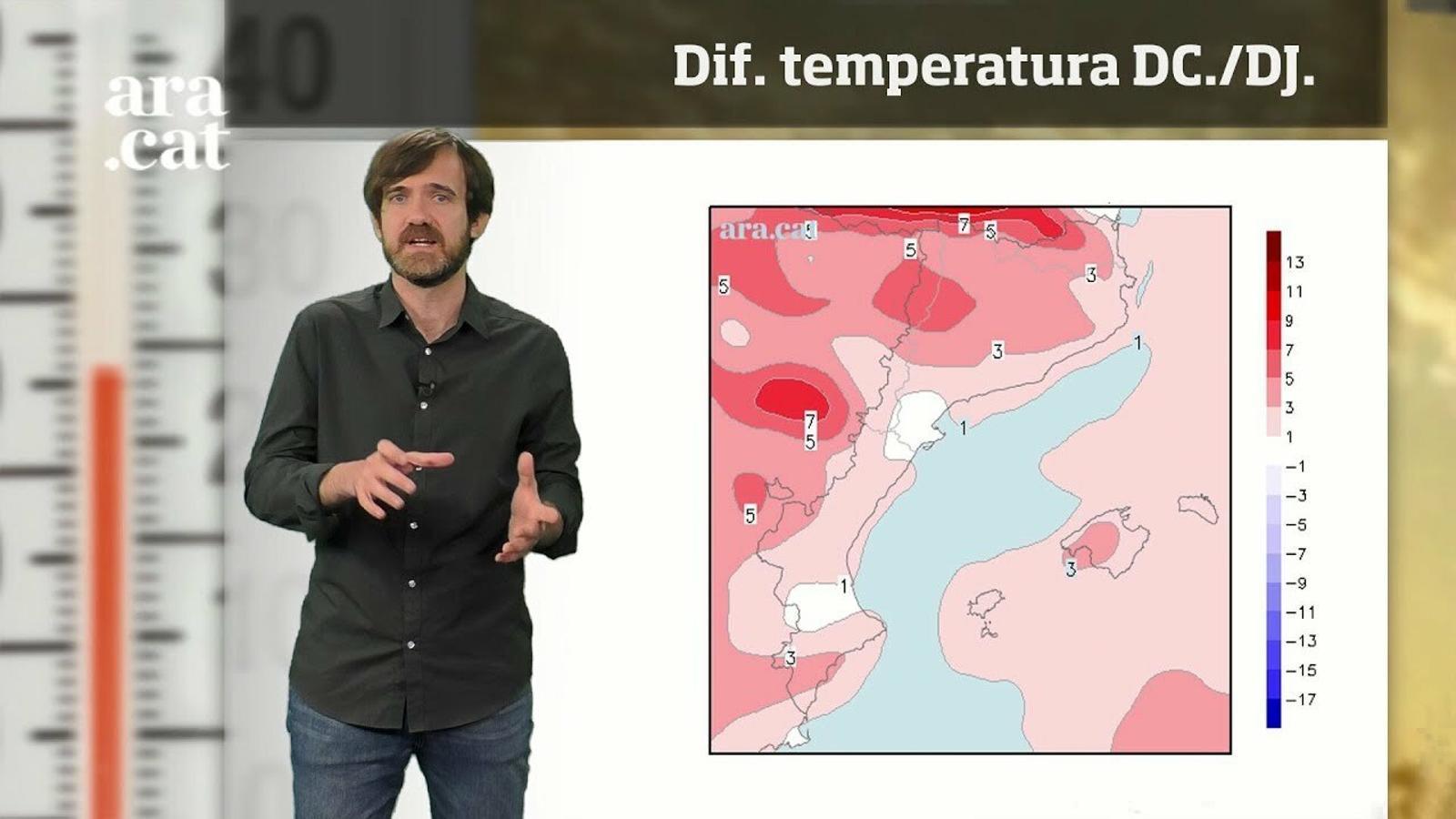 La méteo en 1 minut: calor a l'alça i ruixats puntuals