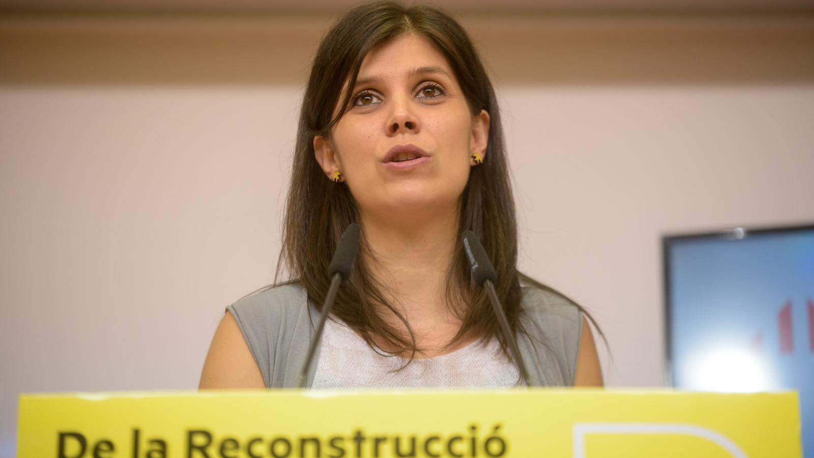 La secretària general adjunta d'ERC, Marta Vilalta, aquest dilluns