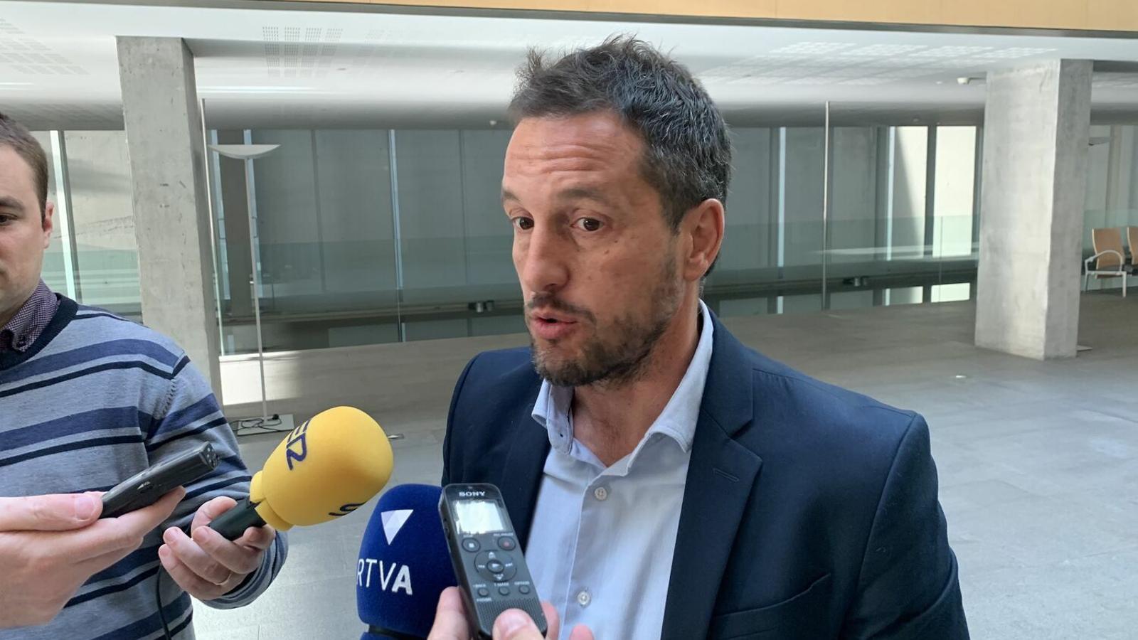 El president del grup parlamentari socialdemòcrata, Pere López. / C. A.