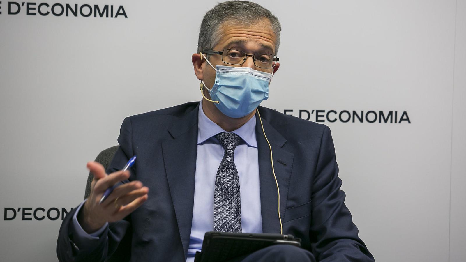Pablo Hernández  de Cos ahir  al Cercle d'Economia.