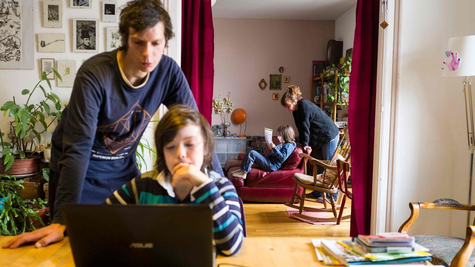 Família a Mulhouse, a l'est de França