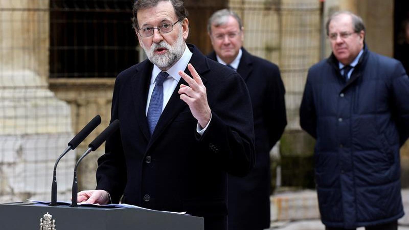 El president del govern espanyol, Mariano Rajoy, a Lleó