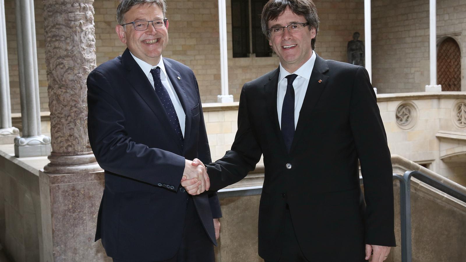 Carles Puigdemont i Ximo Puig