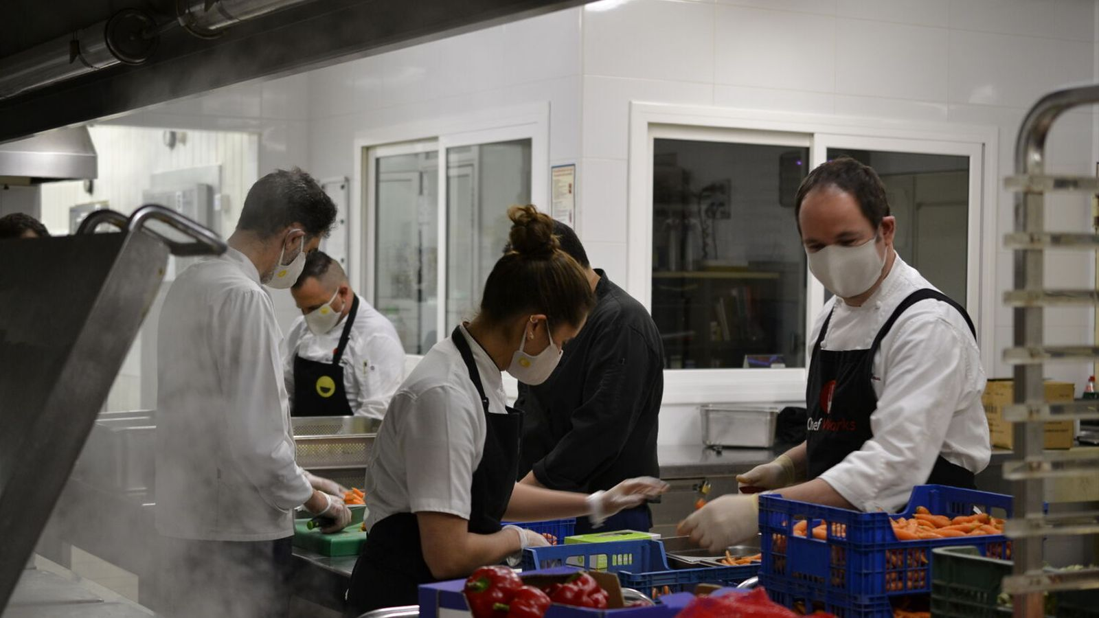 La cuina de la iniciativa Food for Good BCN que preparava àpats diaris per a les persones més desfavorides durant el confinament
