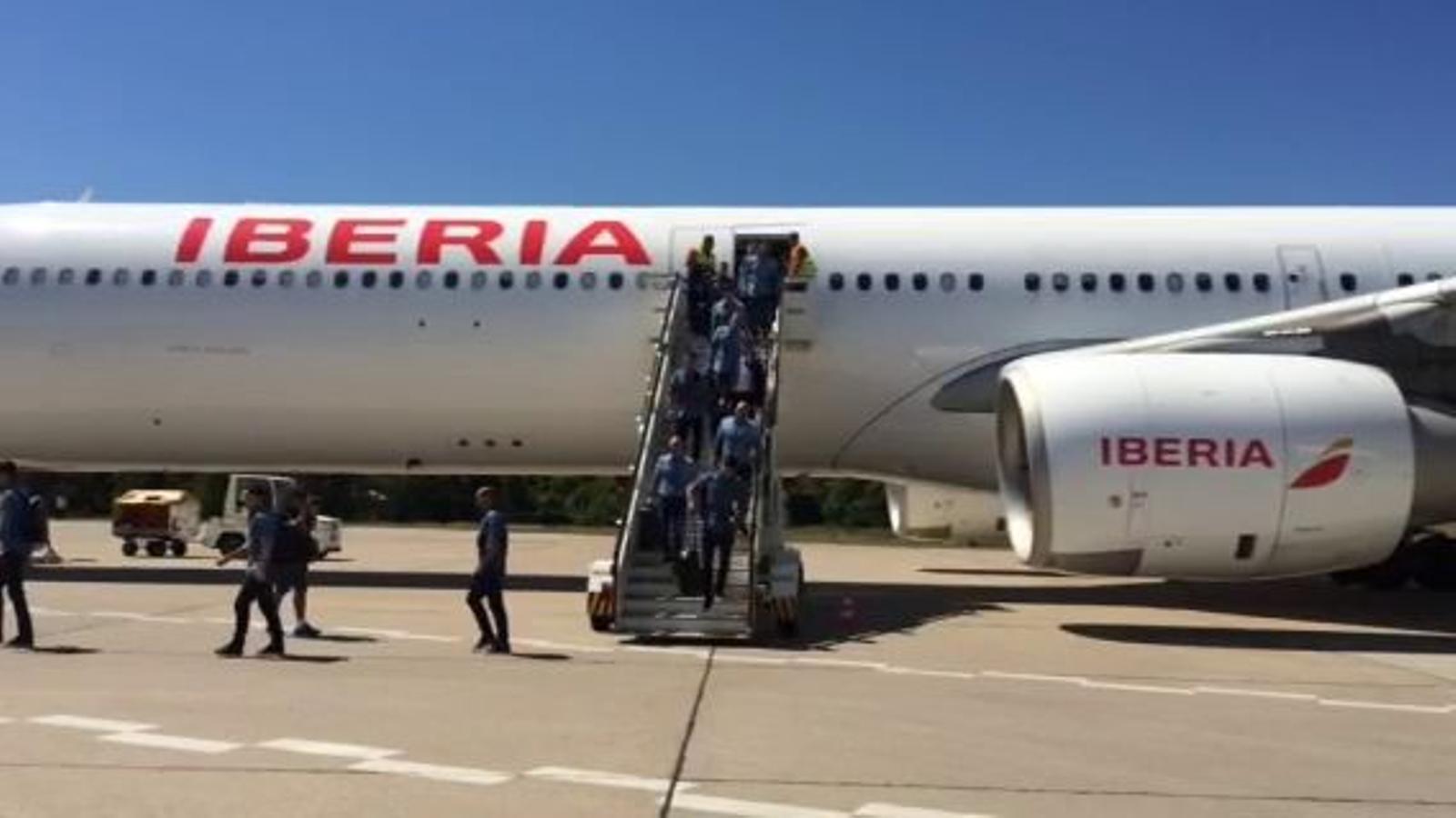 L'expedició blaugrana arriba a Berlín